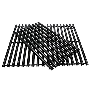 Hisencn Porcelain Steel Channel Cooking Grid, Gas Grill Grates Repair Replacement for Gas Grill Model Charbroil 463440109, Master Chef, Kenmore. Sold as a Set of 3; aftermarket Replacements