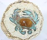Crab Concrete and Copper Oil Lamp, Appox 10'' x 10''