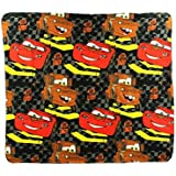 """Disney Cars """"Checkered Flag Repeater"""" Fleece Character Blanket 50 x 60-inches"""