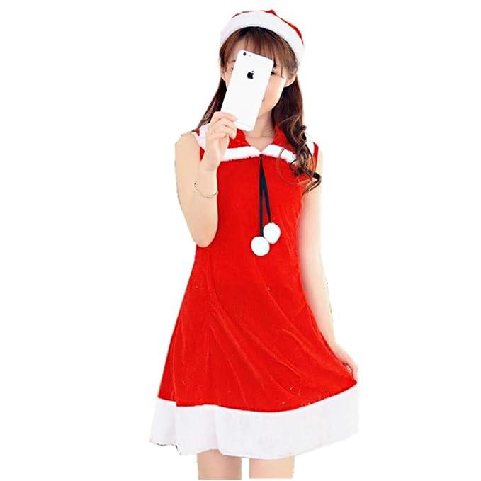 Amazon.com: Vestido de Navidad sexy para mujer, disfraz de ...
