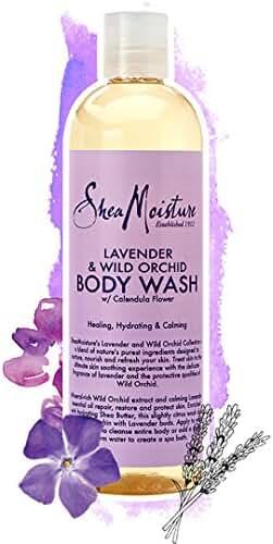 Shea Moisture Lavender & Wild Orchid Body Wash, 13 Ounce
