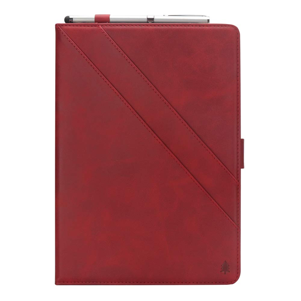 iPad 10.5 Air 3rd Generation Case, taStone Premium PU Leather Business Folio Cover Stand Case with Card Holder Auto Wake/Sleep Document Pocket for iPad Air 3rd Gen 2019 / iPad Pro 10.5'',Red