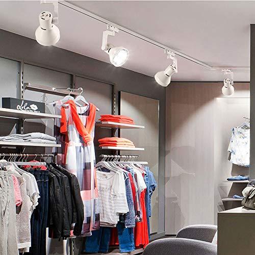 ZJⓇ Spotlight Track Light - Living Room Wall Track Lights Decorative Spotlights - Black/White - 20W/30W/40W - 4 Heads && (Color : White, Size : 20W) by ZJⓇ Spotlight (Image #3)