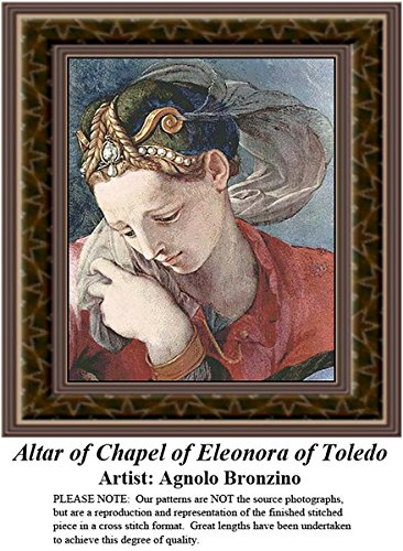Altar of Chapel of Eleonora of Toledo, Fine Art Counted Cross Stitch Pattern (Pattern Only, You Provide the Floss and -