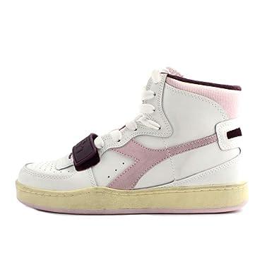 Mi In Diadora Alte Donna Basket Modello Pelle E Used Sport Sneakers wOv0mNn8