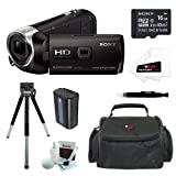 Sony HDR-PJ540/B 32GB Full HD Camcorder w/ built-in Projector + Sony MicroSD 16GB Memory Card + Extra High Capacity NP-FV50 Battery + Focus Camcorder Case + Accessory Kit