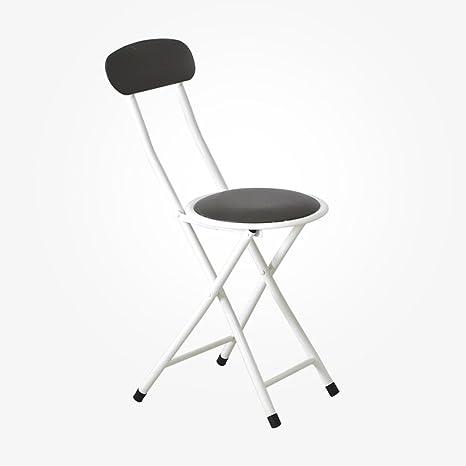Amazon.com: Taburete plegable para silla, respaldo para casa ...
