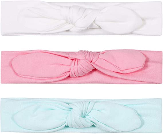 Twinfree Baby Headbands Cotton Girl Headwrap Pack of 3