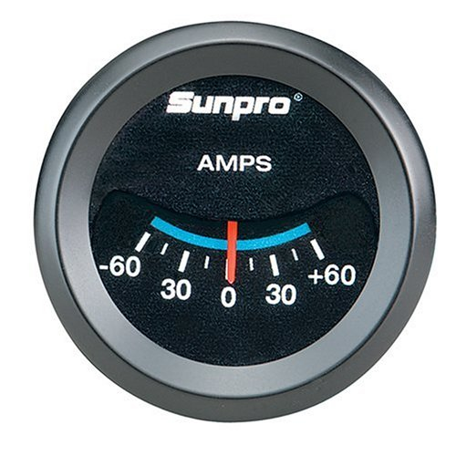 Sunpro CP7981CustomLine Electrical Ammeter - Black Dial