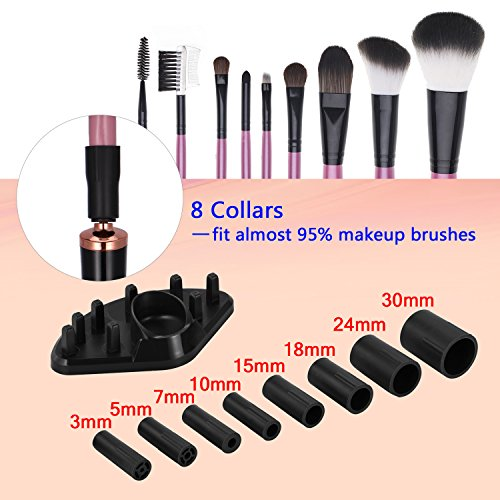 Makeup Brush Cleaner, Portable Automatic Brush Dryer and Cleaner, Deep Thorough Cleaning in Seconds, Suits Most Make Up Brush, Black Cleaning Spinner/Kits for Women … by ADDSMILE (Image #1)