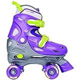 Chicago CRS210SM Girl's Adjustable Quad Skate, White/Pink, Small