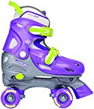 Chicago Girl's Adjustable Quad Skate, Purple/Silver, Small
