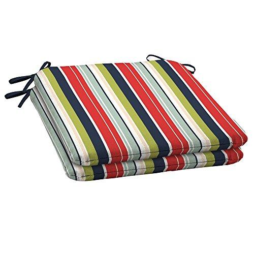Hampton Bay Francesca Stripe Outdoor Seat Cushion (2-Pack) (Hampton Bay Wicker Chair)