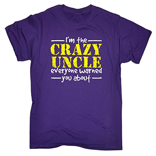 123t Slogans Men's I'M THE CRAZY UNCLE EVERYONE WARNED YOU ABOUT LOOSE FIT T-SHIRT
