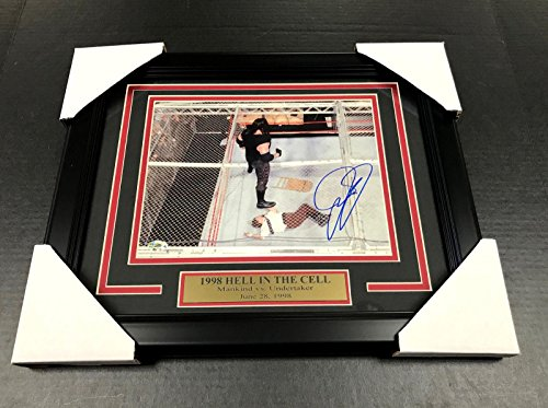 Wwe Wwf Mick Foley Mankind Autographed Framed 8x10 Photo #1 Undertaker 1998 Hitc - Autographed Wrestling Photos