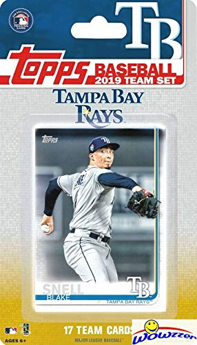 Tampa Bay Set Rays - Tampa Bay Rays 2019 Topps Baseball EXCLUSIVE Special Limited Edition 17 Card Complete Team Set with Blake Snell,Charlie Morton & Many More Stars & Rookies! Shipped in Bubble Mailer! WOWZZER!