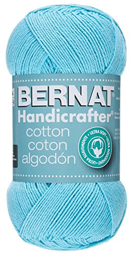 Bernat Handicrafter Cotton Yarn, Solid, 14 Ounce, Robin Egg