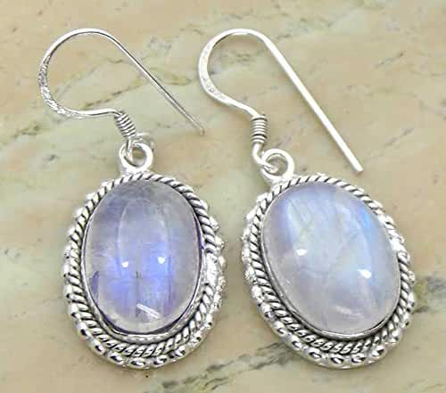 Genuine Gemstone 925 Sterling Silver Overlay Handmade Fashion Earrings Jewelry