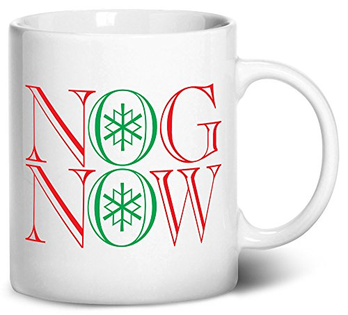 Tenacitee Nog Now Coffee Mug, 11oz, White