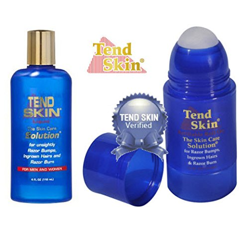 Tend Skin Razor Burn and Ingrown Hair Kit-Tend skin 4ounce  + Roll on 2.5 ounce