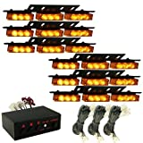 Zone Tech Amber 54x LED Emergency Service Vehicle Deck Grill Warning Light