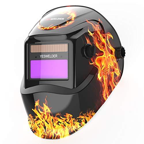 YESWELDER True Color Solar Auto Darkening Welding Helmet, Wide Shade 4/9-13 Welder Mask Weld Hood for TIG MIG ARC