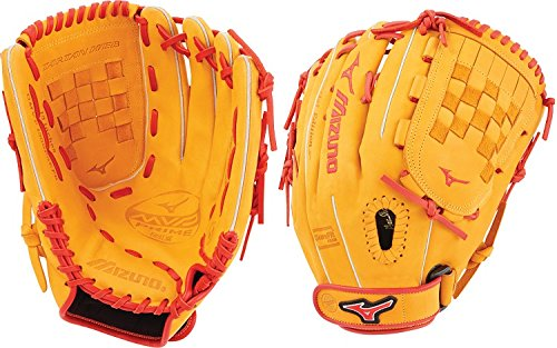 Mizuno MVP Prime SE Fastpitch GMVP1300PSEF6 Outfield/Pitcher Model Gloves, Cork/Red