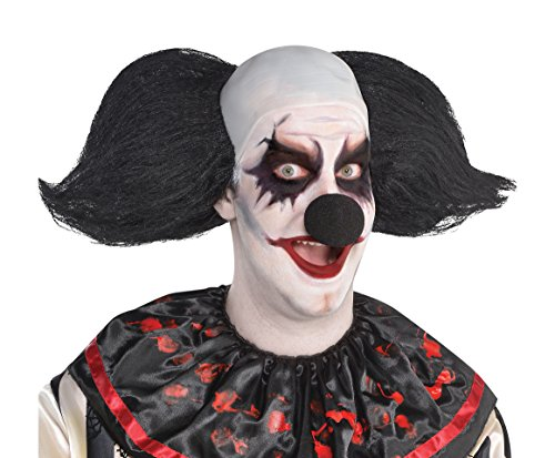 Amscan Freak Show Clown Wig One Size, Black