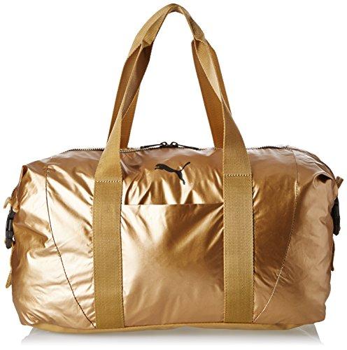 PUMA Damen Tasche Fit AT Workout Bag Gold, Metallic grau, 42x 27 x 16 cm, 70 Liter, 74137-0002