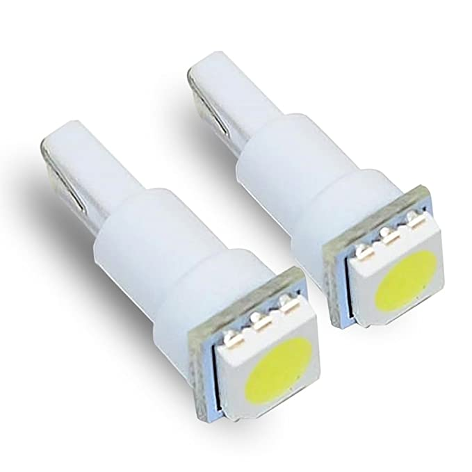 Amazon.com: T5 74 White LED Light Bulbs Single 5050 SMD Dashboard ...