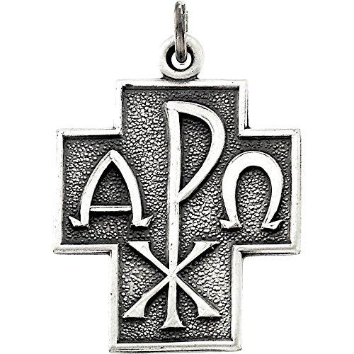 Sterling Silver Alpha Omega Cross ()