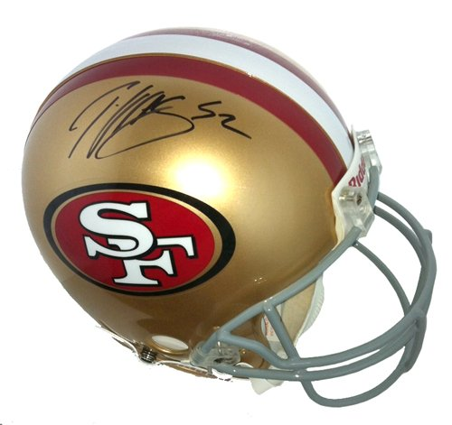 Patrick Willis Autographed/Signed San Francisco 49ers Riddell Full Size Authentic NFL Helmet