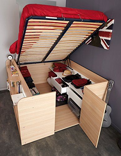 Parisot Space Up Bed And Storage Full Oak Buy Online