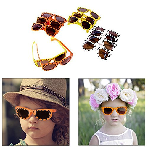 Animal Print Sunglasses - Dazzling Toys Animal Print Sunglasses Assortment - Pack of 12 - Leopard, Tiger and Zebra Styles