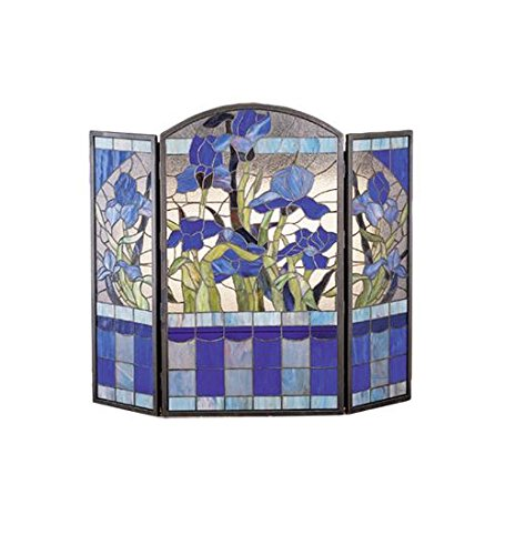 Meyda Tiffany 27236 Iris Folding Fireplace Screen, 40