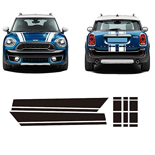 Bonnet Stripe Graphics Sticker Hood Trunk Rear Decal Stickers For Mini Cooper S Countryman F60 2017 -4 Colors ()