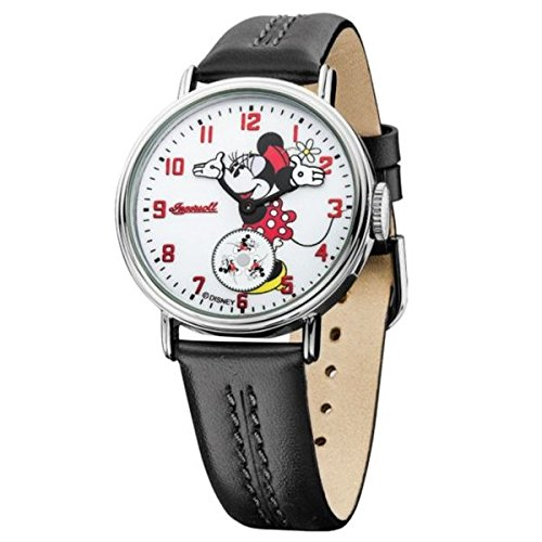 Ingersoll Minnie Mouse Men's IND 26503 Ingersoll Disney Minnie Mouse Moving Arm Analog Display Quartz Black Watch