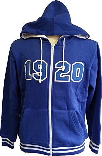 - Buffalo Dallas Zeta Phi Beta 1920 Applique Zip-Up Ladies Hoodie [Blue - L]