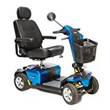 Pride Mobility - Victory 10 LX with CTS Suspension - Full-Sized Scooter, 4-Wheel, True Blue - PHILLIPS POWER PACKAGE TM - TO $500 VALUE
