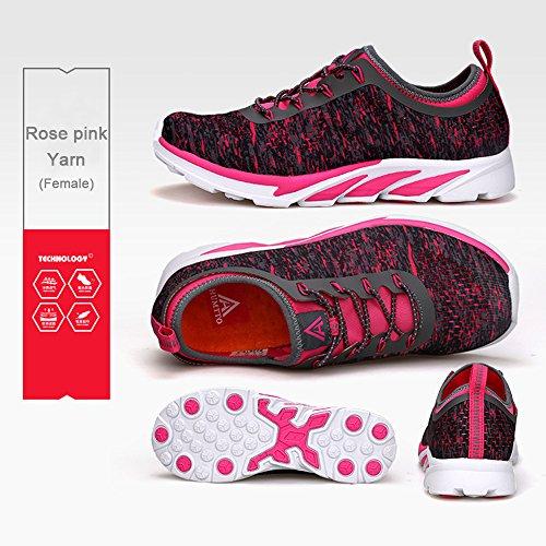 women de Sunjcs Zapatillas para Mujer Pink Running Rose A70qU0w6x