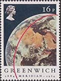 Mint Condition Collectable Decimal Queen Elizabeth 2nd Stamps Unfranked Unused (16p 1984 Earth from Apollo 11 Centenary Greenwich)(16p 1984 Earth from Apollo 11 Centenary Greenwich)