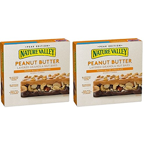 Energy Amazon Diet (Nature Valley Peanut Butter Layered Granola Nut Bars Chocolate, (2 Pack) 6.9 oz Boxes)