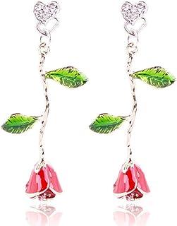 XQY Stud Earrings, Earrings, Women'S Ear Jewelry, Tassel Earrings, Creative Personality Earrings, Simple Earrings, Fashion Earrings, Stainless Steel Hypoallergenic Earrings,As show,One size