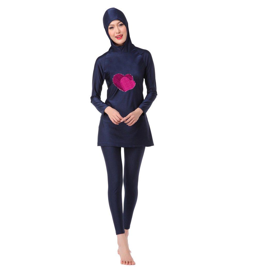 Frauen Badeanzug Set Damen Burkini Muslim Bademode zurückhaltenden Islamische Bikini Baden Badeanzug Mr Lin123