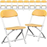 Flash Furniture 10 Pk. Kids Yellow Plastic Folding Chair