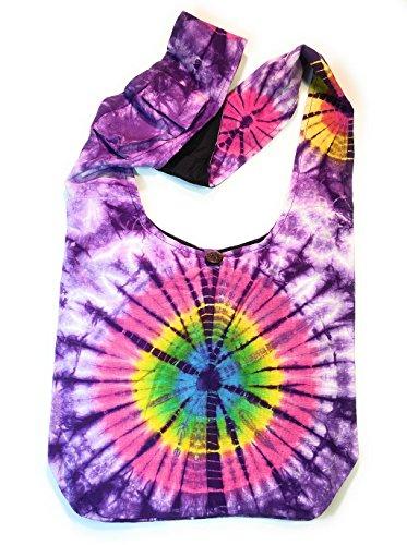 (Tie Dye Cross Body Shoulder Handbag Purse in Purple )