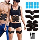 Abdominal Muscle Toner Rechargeable ABS Stimulator, Portable Wireless Muscle Trainer for Men Women,6
