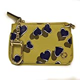 Gucci Card Holder 'Heartbeat' Yellow Leather Designer Keychain Wallet 233183