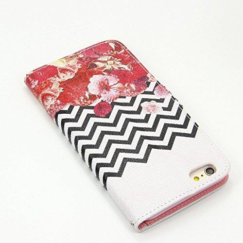iPhone 6S / 6 Hülle, VENTER® [ID Credit Card Slots] [Cash-Tasche] Woven + PU-Leder [Tropfen Schutz] Flip Medien Cover Ständer für Apple iPhone 6S / 6