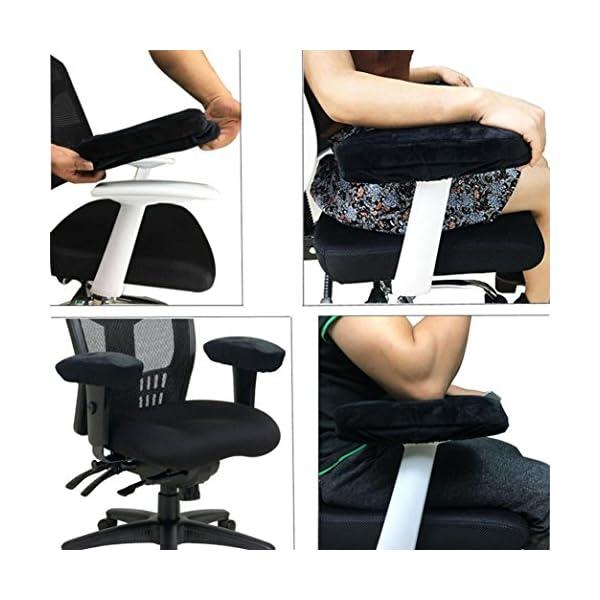 Cuscino in memory foam Taottao bracciolo bracciolo copertura sedia braccioli per gomiti 4 spesavip